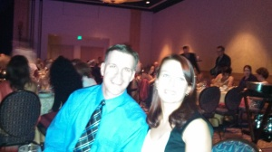 Casey & Tara at the Awards Dinner